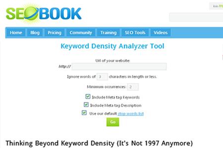 SEOBook - Keyword Density Analyzer Tool