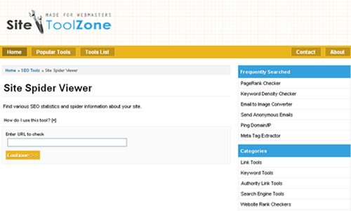 Site ToolZone - Site Spider Viewer