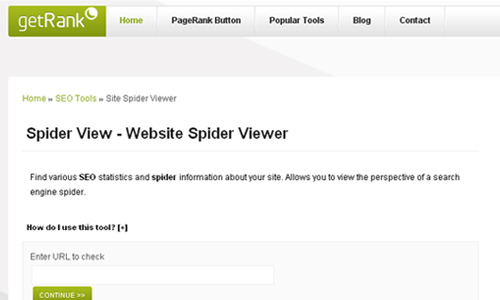 getRank - Site Spider Viewer