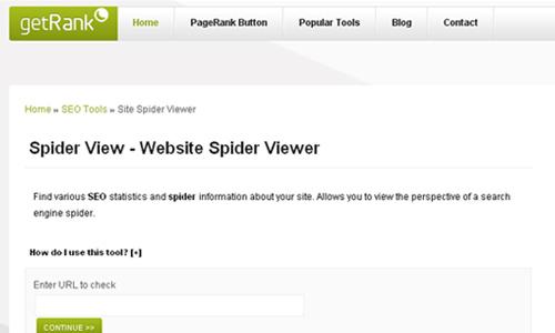 getRank - Site Spider Viewer