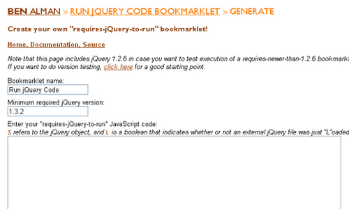 Bookmarklet Generator