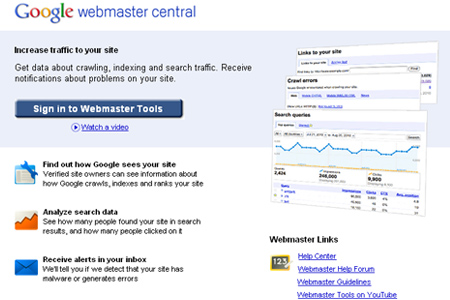 Google Webmaster Tools - Backlink Checker