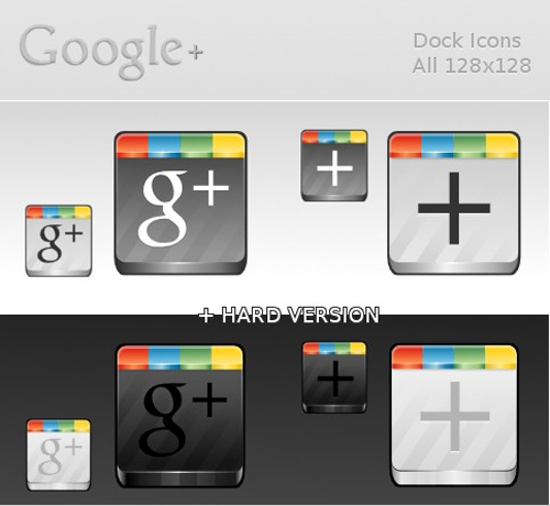 Google Plus dock icons