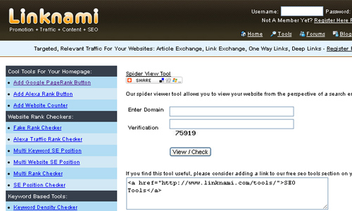 Linknami - Spider View Tool