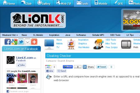 LionLK.com - Cloaking Checker
