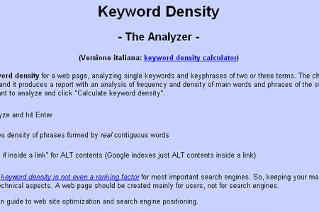 Motoricerca - Keyword Density Analyzer