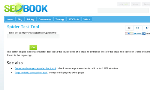 Web Spider Tool Seo Book – Spider Test Tool