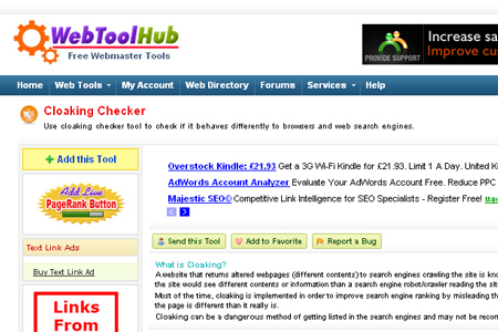 WebToolHub - Cloaking Checker