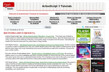flash and math ActionScript 3 Tutorials