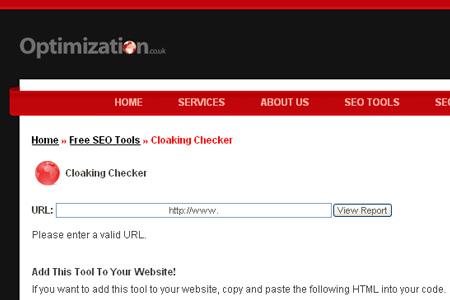 Optimization.co.uk - Cloaking Checker