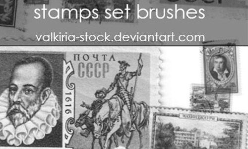 stamps set brushes
