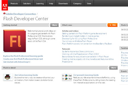adobe - flash development Center