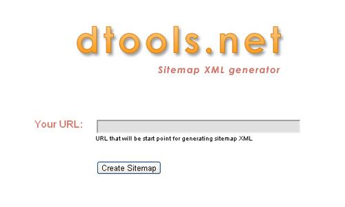 dtools.net - Sitemap XML Generator