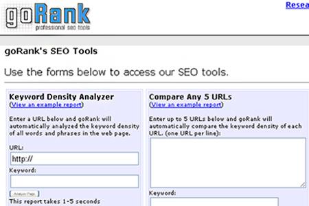 goRank - Keyword Density Analyzer