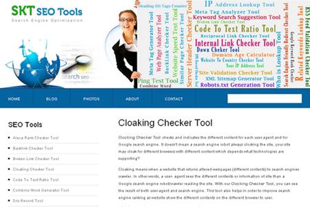 SKT SEO Tools - Cloaking Checker Tool