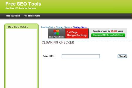 SEOBut - Cloaking Checker