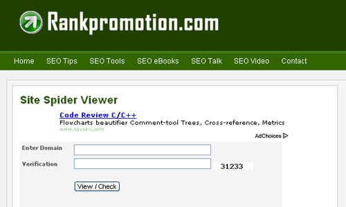 Rankpromotion.com - Site Spider Viewer
