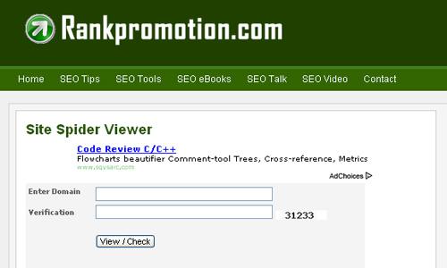 Rankpromotion.com - Site Spider Viewer