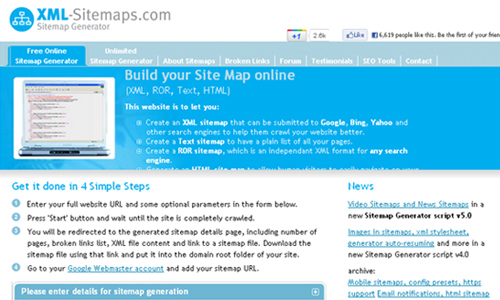 20 free online xml sitemap generator tools