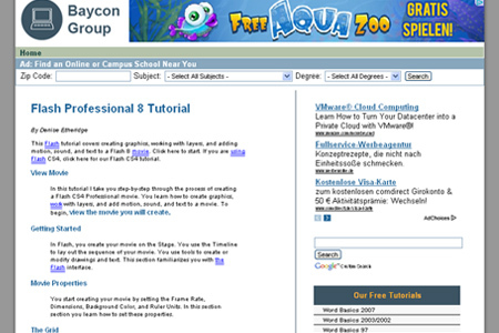 Baycon Group - Flash Professional 8 Tutorial