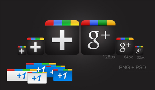 GOOGLE PLUS FREE ICON PACK [PNG+PSD]