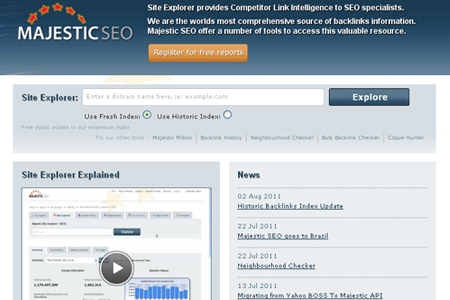 majestic seo - Backlink Checker