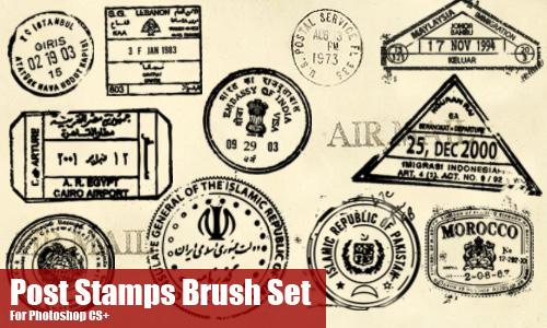 Post Stamp Brushes