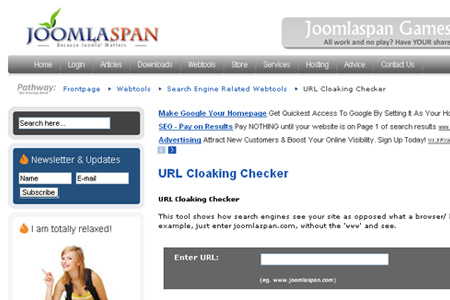 JoomlaSpan - URL cloaking checker