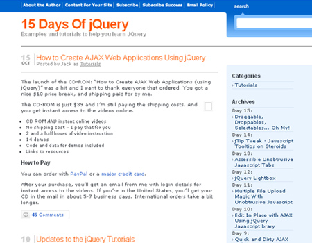15 Days of jQuery