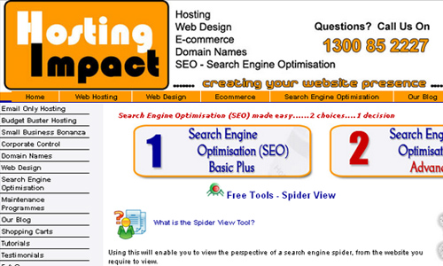 Hosting Impact - Spider View Tool