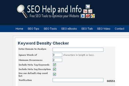 SEOHelpandInfo.com - Keyword Density Checker