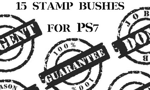 23 Free Stamp Photoshop Brushes - blueblots com