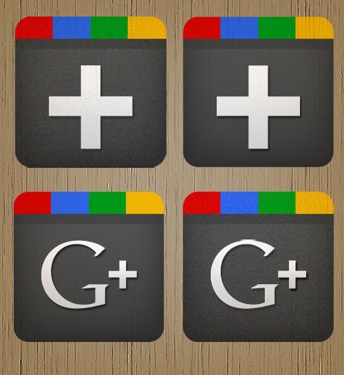 4 Free Google+ Icons