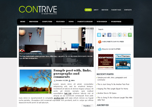 contrive WordPress Theme