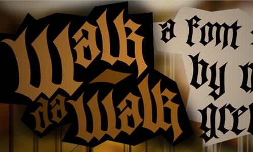 Walk Da Walk One font