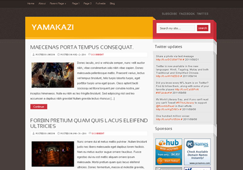 yamakazi wordpress theme