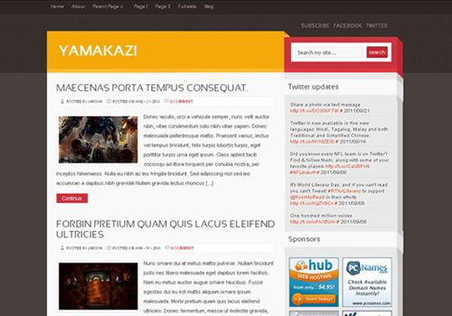 yamakazi wordpress theme