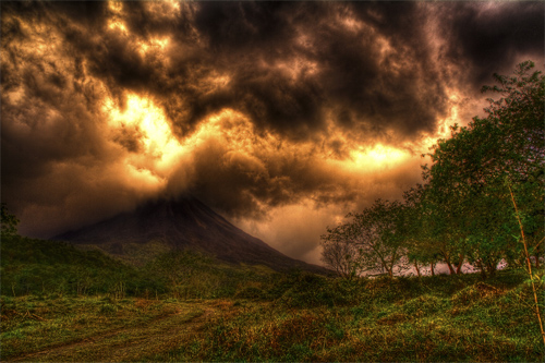 Arenal Fire Sky