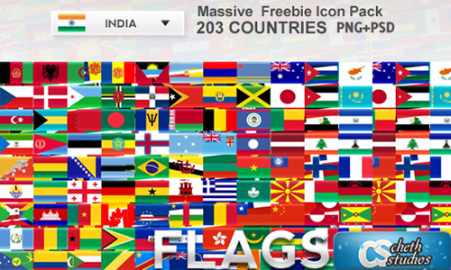 200+ Country Flags