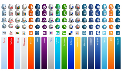 Free Social Media Icons Vector and PNG Mega Pack