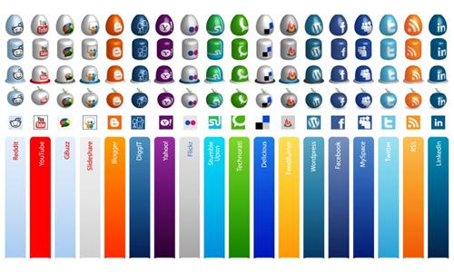 Free Social Media Icons Vector and PNG Mega Pack
