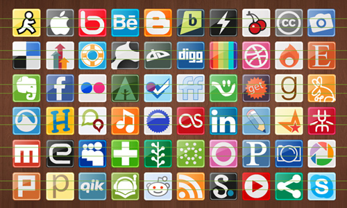 77 social media network icons