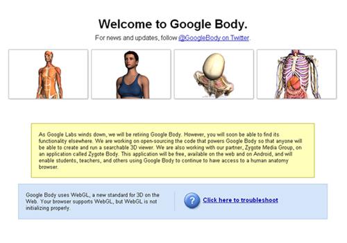 Google Body Browser