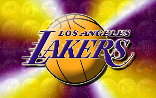 LA Lakers - with ghosted NBA background