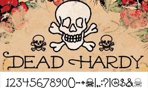 Dead Hardy – Ed Hardy Inspired Font