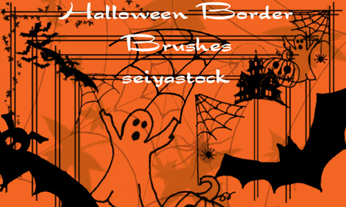 Halloween Border Brushes