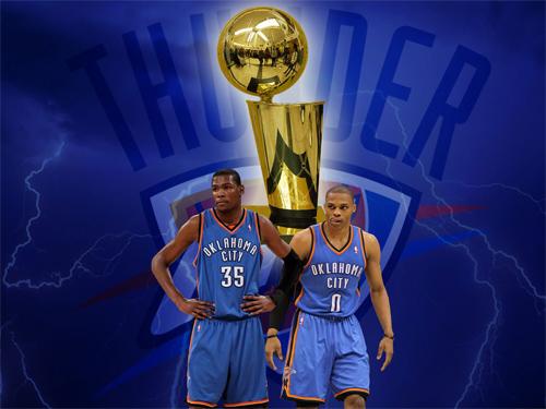 Oklahoma City Thunder NBA Trophy Wallpaper