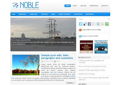 noble WordPress Theme