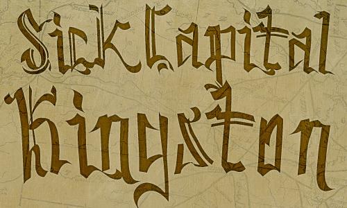 SickCapital Kingston font