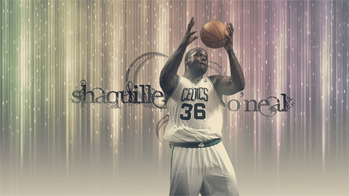 Shaquille O'Neal Celtics 2011 Widescreen Wallpaper